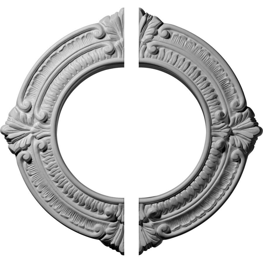 Ekena Millwork Benson 11.125-in x 11.125-in Urethane Ceiling Medallion