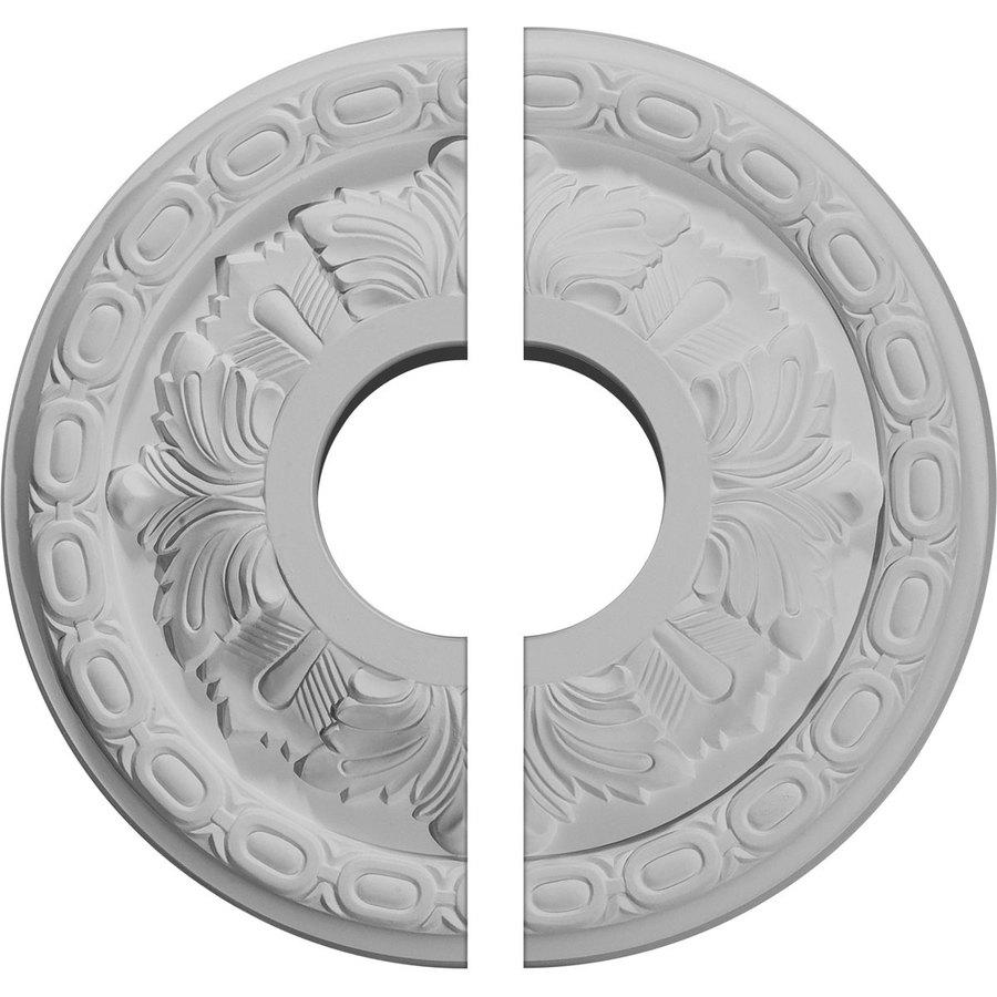 Ekena Millwork Leaf 11.375-in x 11.375-in Urethane Ceiling Medallion