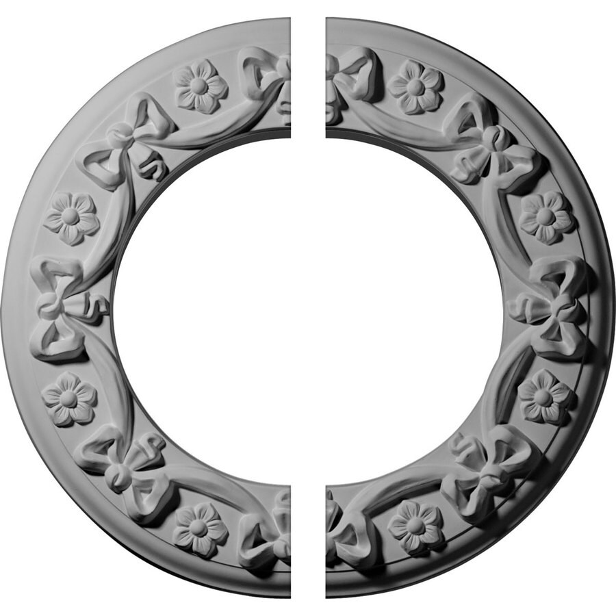 Ekena Millwork Ribbon 12.25-in x 12.25-in Urethane Ceiling Medallion