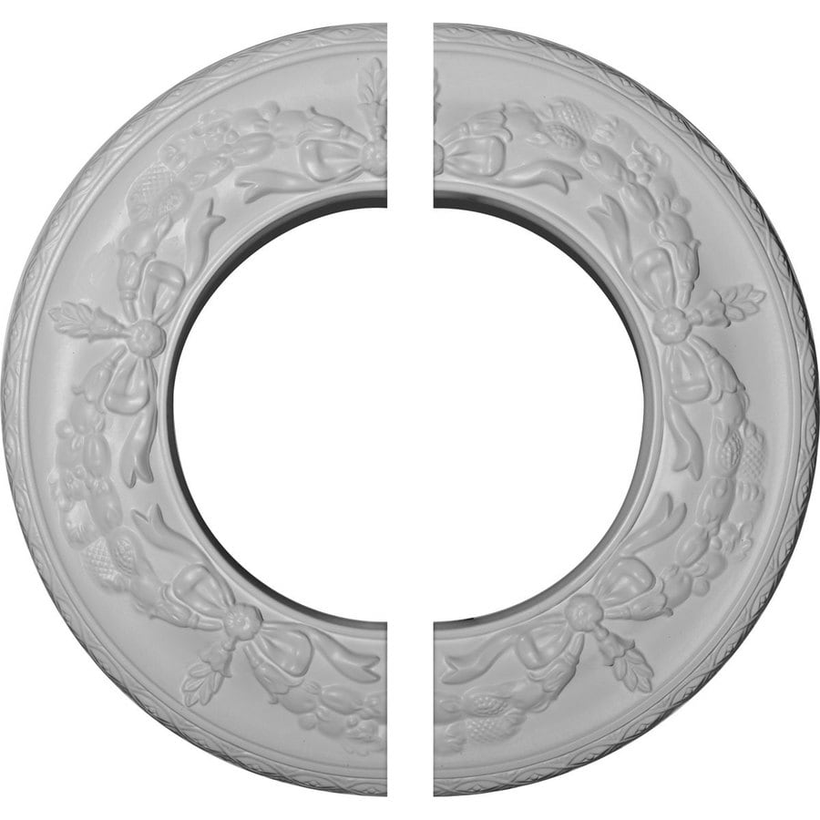Ekena Millwork Salem 13.25-in x 13.25-in Urethane Ceiling Medallion