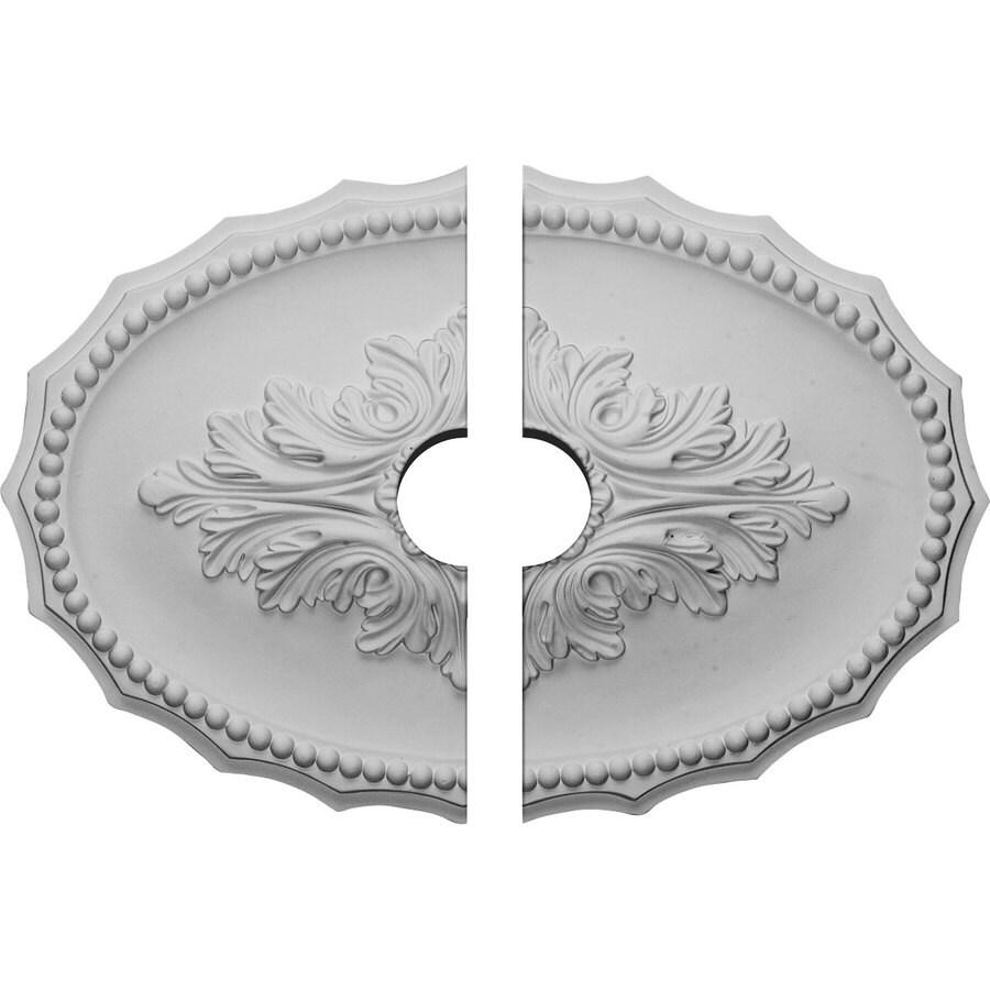 Ekena Millwork Oxford 16.875-in x 11.75-in Urethane Ceiling Medallion