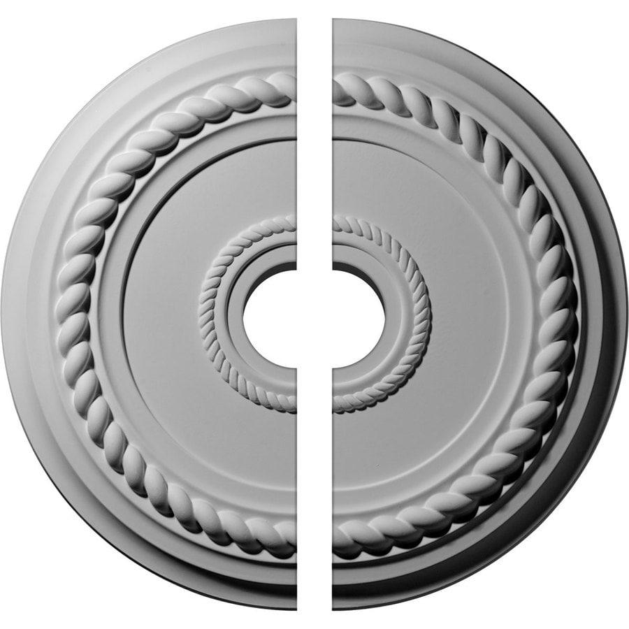 Ekena Millwork Alexandria 19.625-in x 19.625-in Urethane Ceiling Medallion