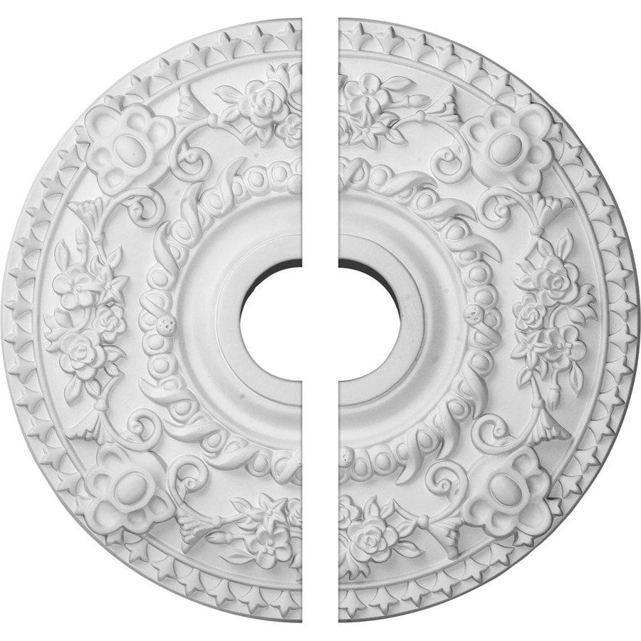 Ekena Millwork Rose 18-in x 18-in Urethane Ceiling Medallion