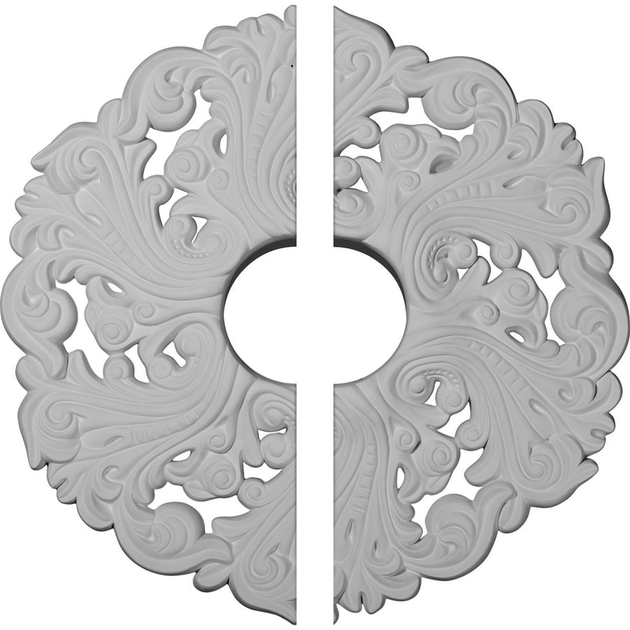 Ekena Millwork Orrington 19.625-in x 19.625-in Urethane Ceiling Medallion