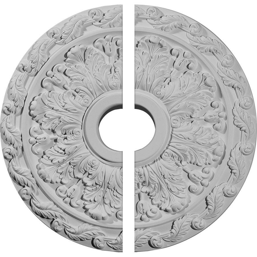 Ekena Millwork Spring Leaf 19.875-in x 19.875-in Urethane Ceiling Medallion