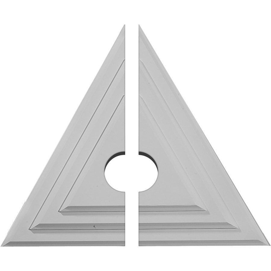 Ekena Millwork Triangle 19-in x 16.625-in Urethane Ceiling Medallion