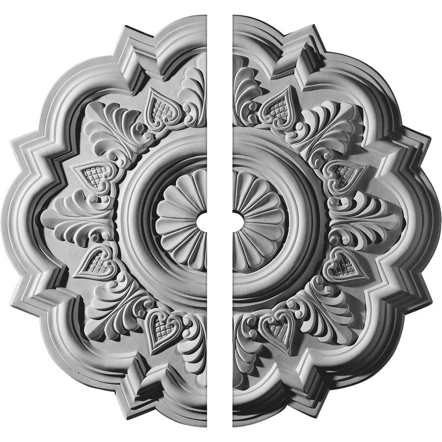 Ekena Millwork Deria 20.25-in x 20.25-in Urethane Ceiling Medallion