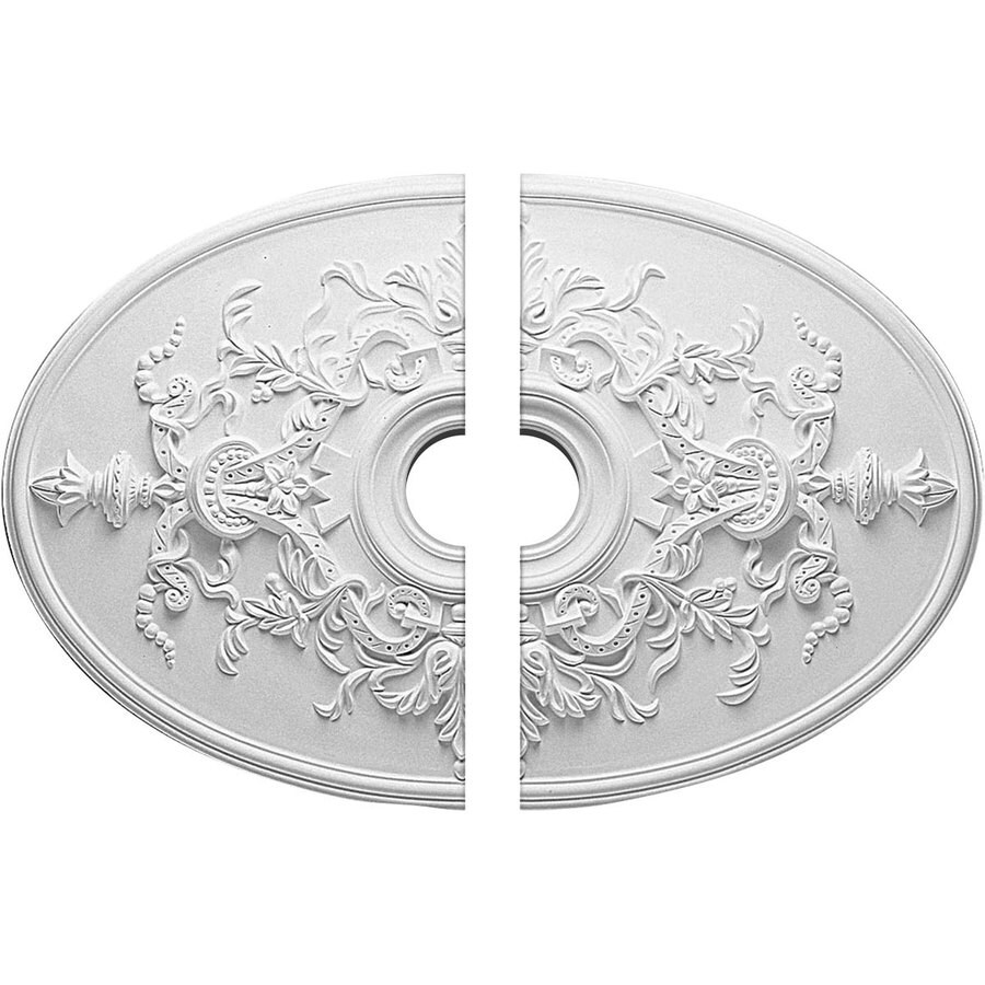 Ekena Millwork Alexa 21.25-in x 30.75-in Urethane Ceiling Medallion