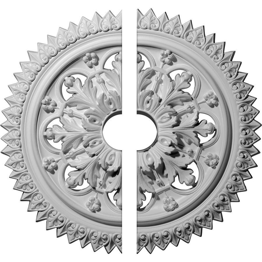 Ekena Millwork York 21.625-in x 21.625-in Urethane Ceiling Medallion