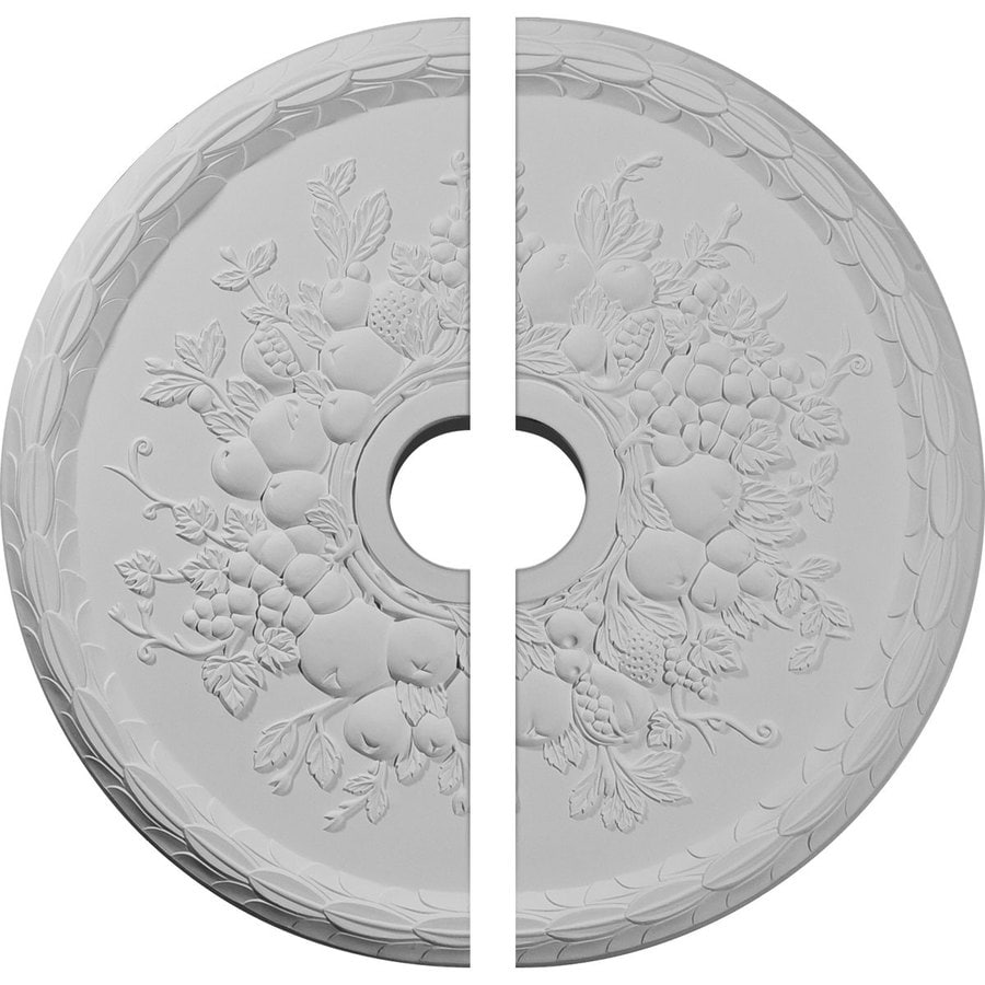 Ekena Millwork Grape 22.625-in x 22.625-in Urethane Ceiling Medallion