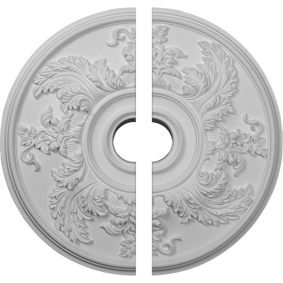 Ekena Millwork Acanthus 23.625-in x 23.625-in Urethane Ceiling Medallion
