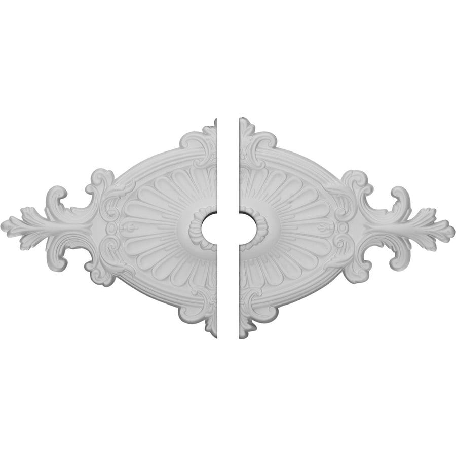 Ekena Millwork Rose & Ribbon 23.5-in x 12.25-in Urethane Ceiling Medallion