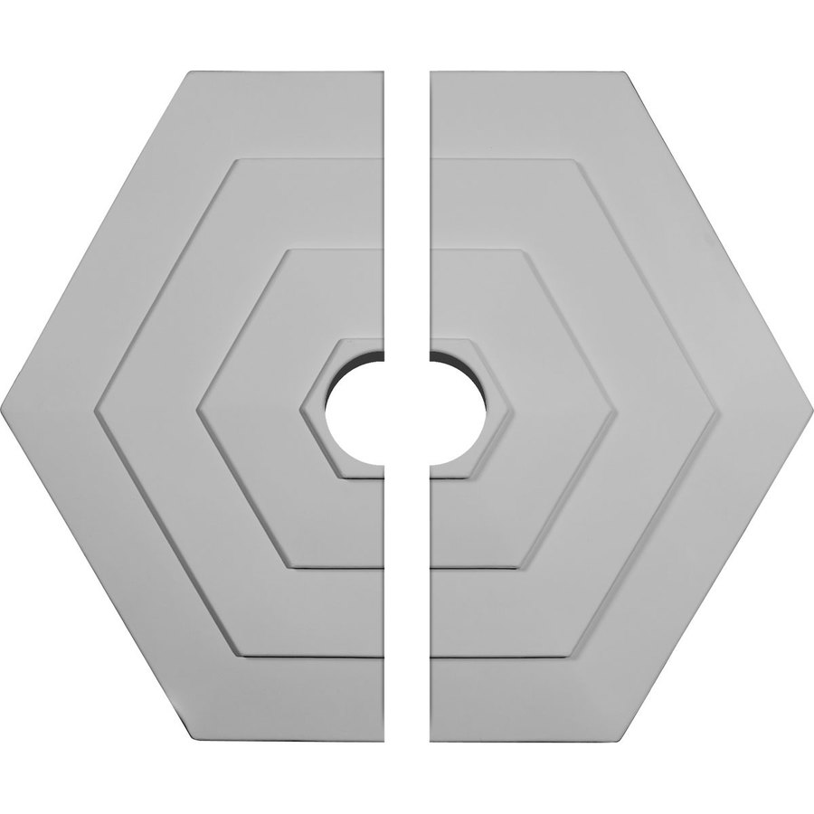 Shop Ekena Millwork Woodruff 23.25-in x 23.25-in Urethane Ceiling Medallion at Lowes.com