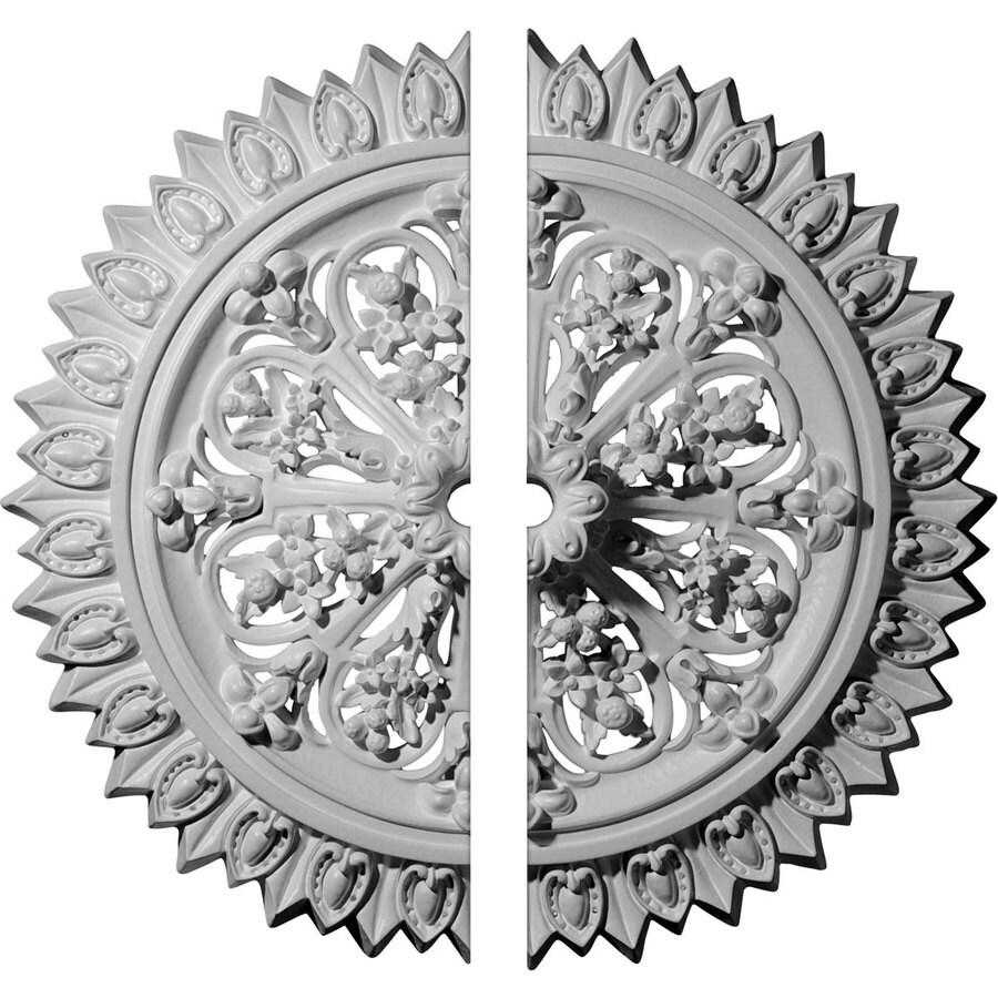 Ekena Millwork Lariah 24.75-in x 24.75-in Urethane Ceiling Medallion
