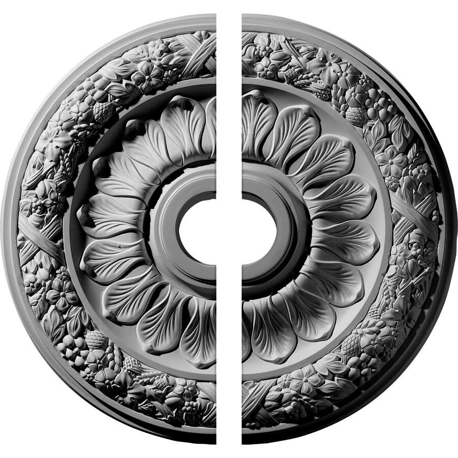 Ekena Millwork Swindon 24-in x 24-in Urethane Ceiling Medallion
