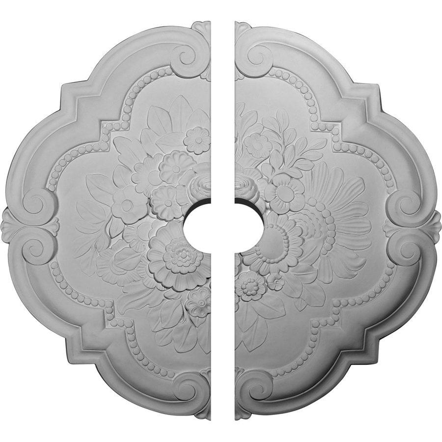 Ekena Millwork Victorian 24.375-in x 24.375-in Urethane Ceiling Medallion