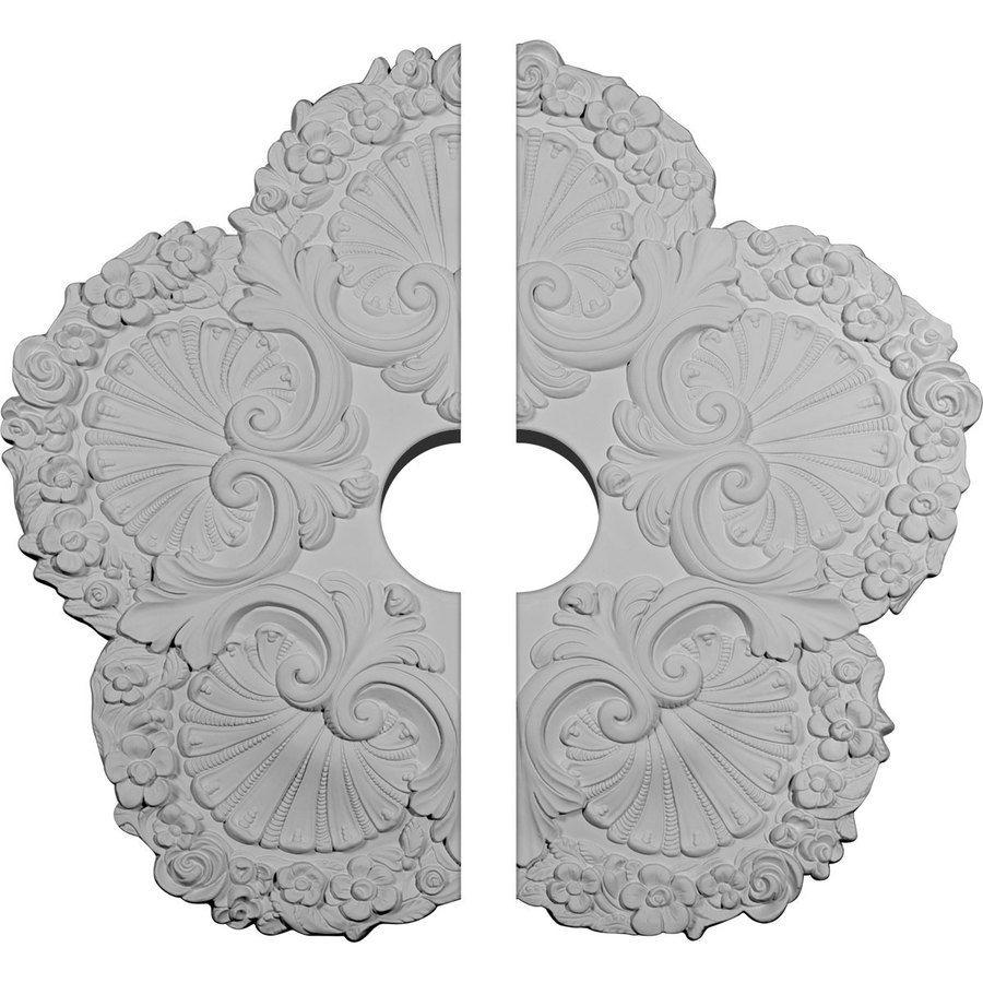 Ekena Millwork Shell 25.625-in x 25.625-in Urethane Ceiling Medallion