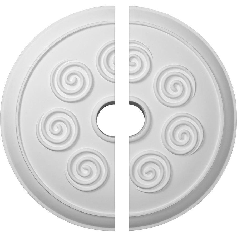 Ekena Millwork Spiral 25.25-in x 25.25-in Urethane Ceiling Medallion