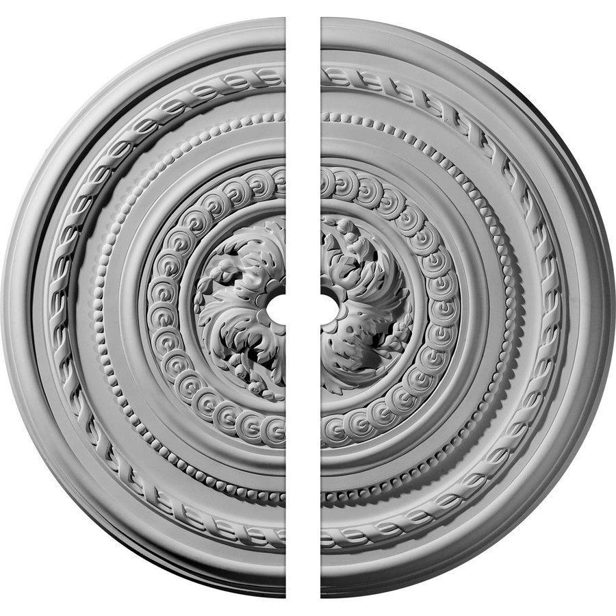 Ekena Millwork Pearl 26.25-in x 26.25-in Urethane Ceiling Medallion