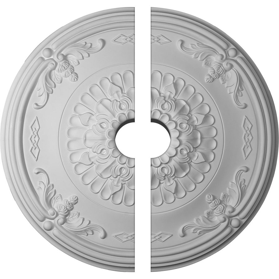 Ekena Millwork Athens 26.25-in x 26.25-in Urethane Ceiling Medallion