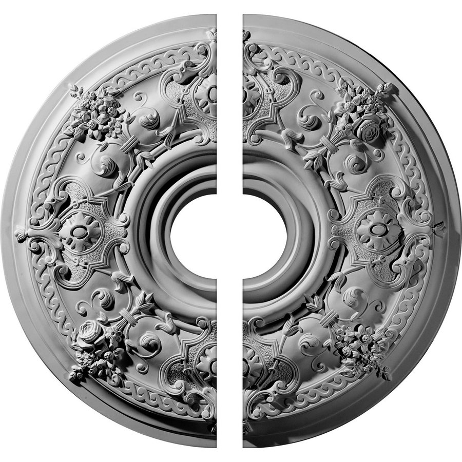 Ekena Millwork Darnay 29.25-in x 29.25-in Urethane Ceiling Medallion