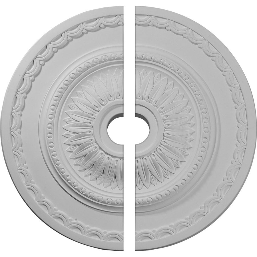 Ekena Millwork Sunflower 29.5-in x 29.5-in Urethane Ceiling Medallion