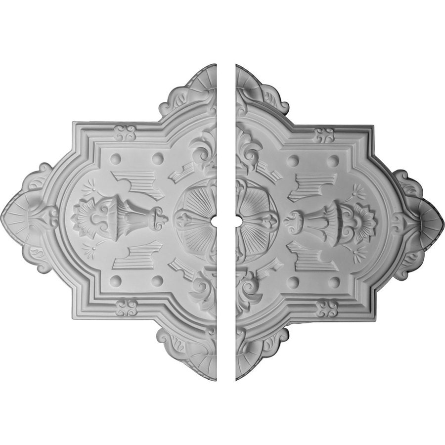 Ekena Millwork Cathedral 38.125-in x 29.125-in Urethane Ceiling Medallion