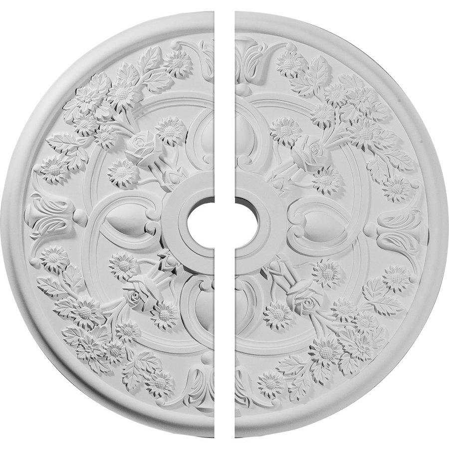 Ekena Millwork Rose 30.875-in x 30.875-in Urethane Ceiling Medallion