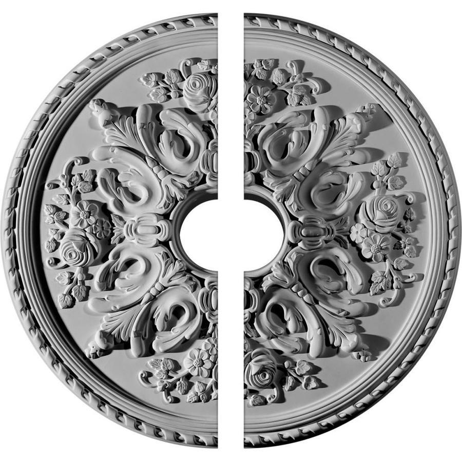 Ekena Millwork Bradford 32.625-in x 32.625-in Urethane Ceiling Medallion