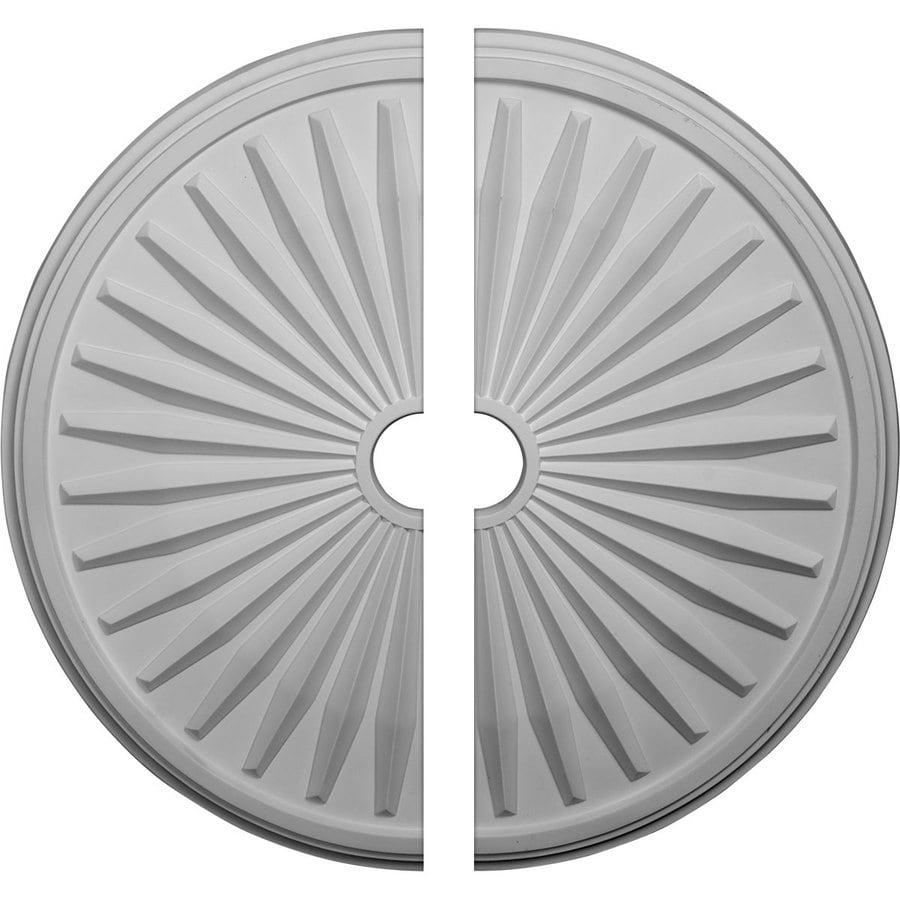 Ekena Millwork Leandros 33.125-in x 33.125-in Urethane Ceiling Medallion