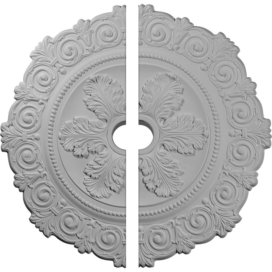 Ekena Millwork Scroll 33.25-in x 33.25-in Urethane Ceiling Medallion