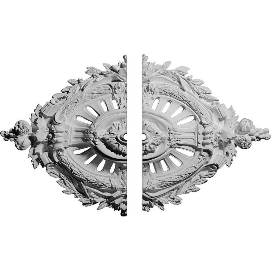 Ekena Millwork Antonio 35.875-in x 22.5-in Urethane Ceiling Medallion