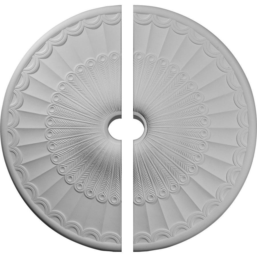 Ekena Millwork Galveston 36.625-in x 36.625-in Urethane Ceiling Medallion