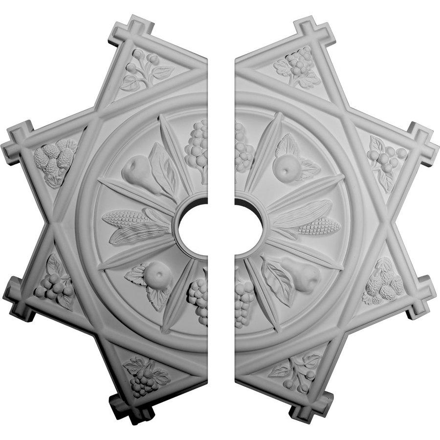 Ekena Millwork Antilles 38.25-in x 38.25-in Urethane Ceiling Medallion