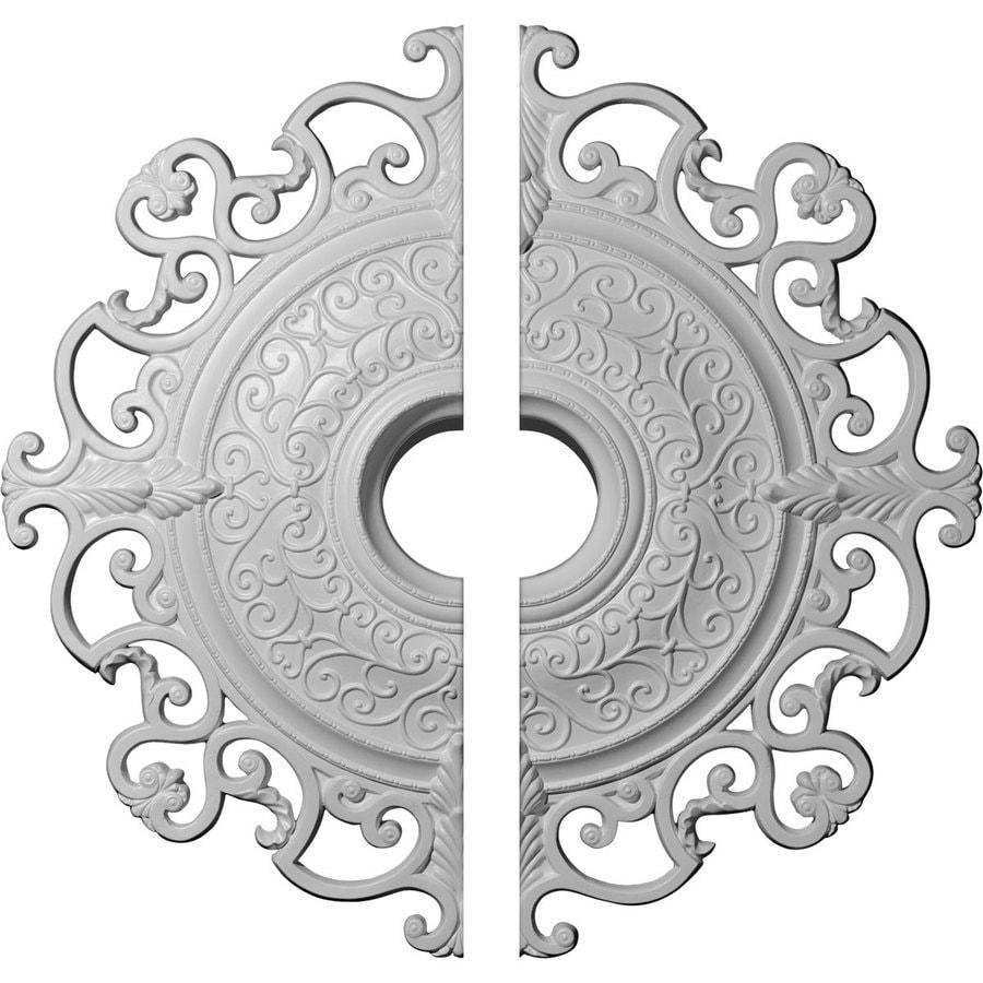 Ekena Millwork Orleans 38.375-in x 38.375-in Urethane Ceiling Medallion