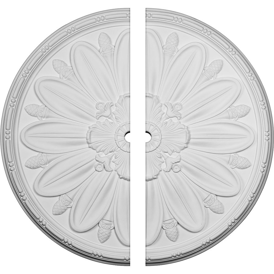 Ekena Millwork Delfina 40-in x 40-in Urethane Ceiling Medallion