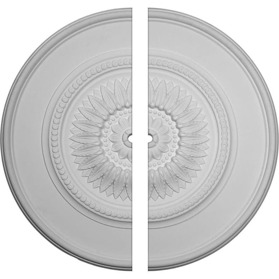 Ekena Millwork Floral 41.125-in x 41.125-in Urethane Ceiling Medallion