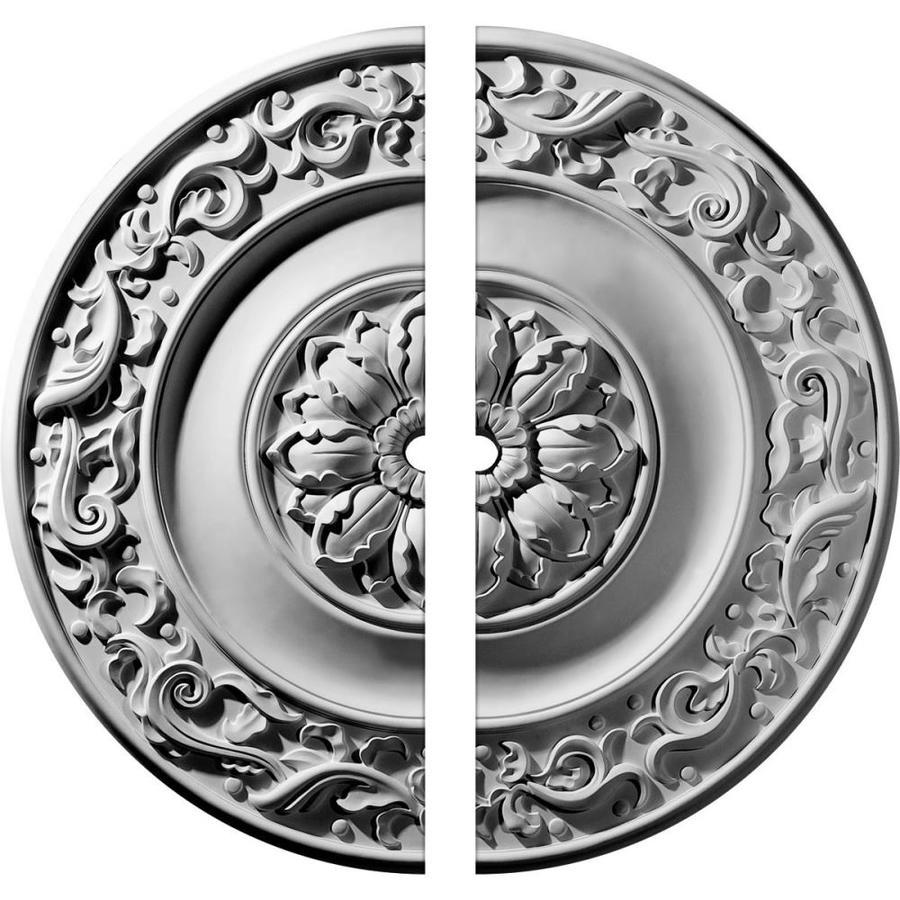 Ekena Millwork Milan 47.625-in x 47.625-in Urethane Ceiling Medallion
