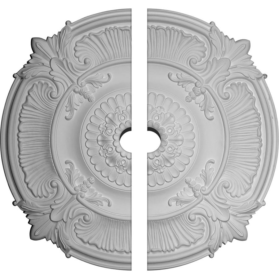 Ekena Millwork Attica 53.5-in x 53.5-in Urethane Ceiling Medallion