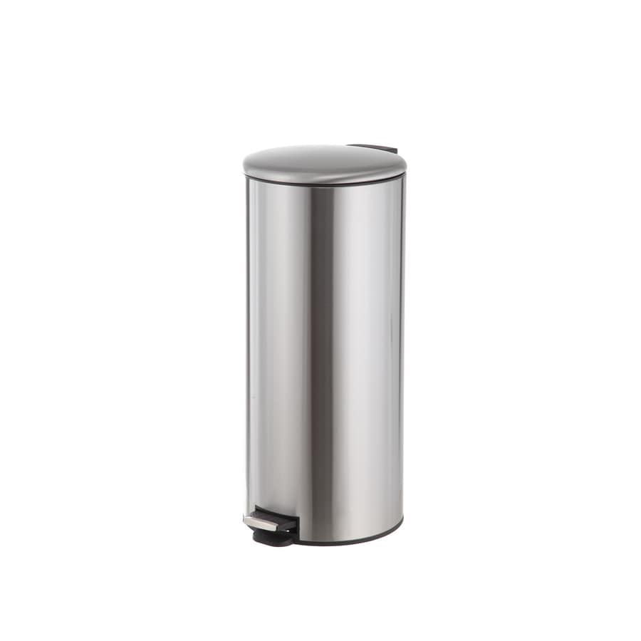 Style Selections 30 Liters Stainless Steel Commercial Indoor Trash Can  Lid(S) Included