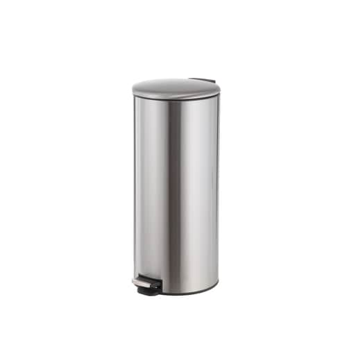 30-Liter Stainless Steel Commercial Trash Can with Lid