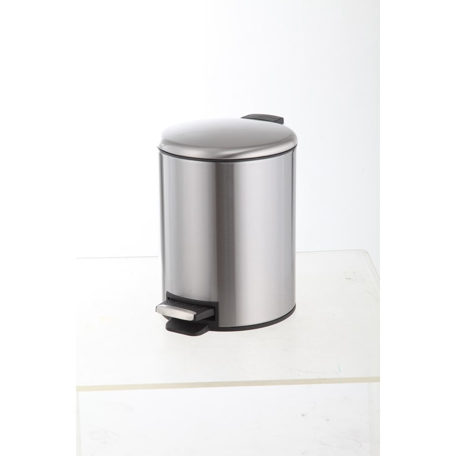 Style Selections 5 Liters Stainless Steel Commercial Indoor Trash Can Lid(S) Included