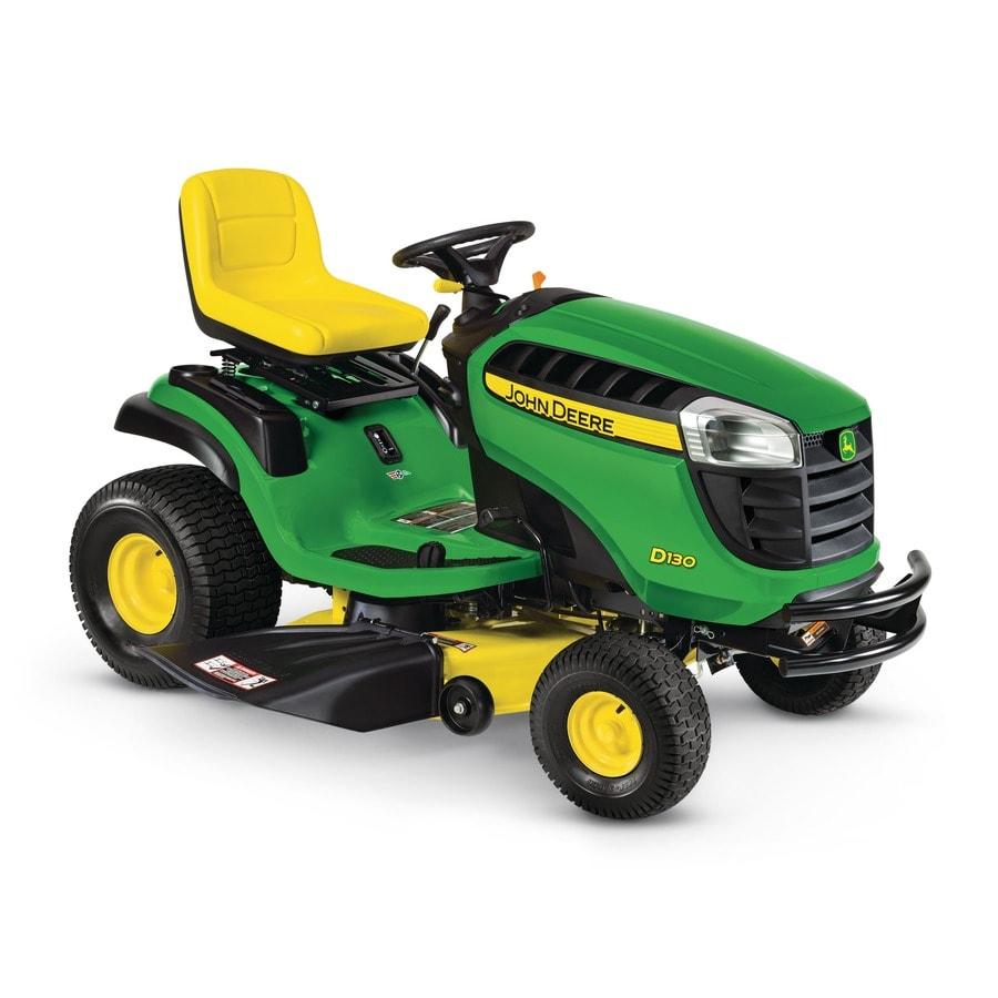John Deere D130 22-HP V-Twin Hydrostatic 42-in Riding Lawn Mower at