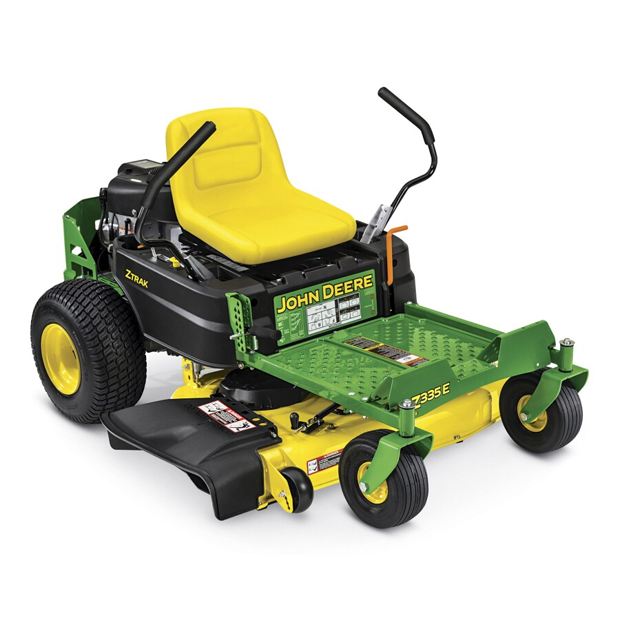 John Deere Z335E CARB 20-HP V-twin Dual Hydrostatic 42-in Zero-turn Lawn Mower with Mulching Capability (Kit Sold Separately) CARB