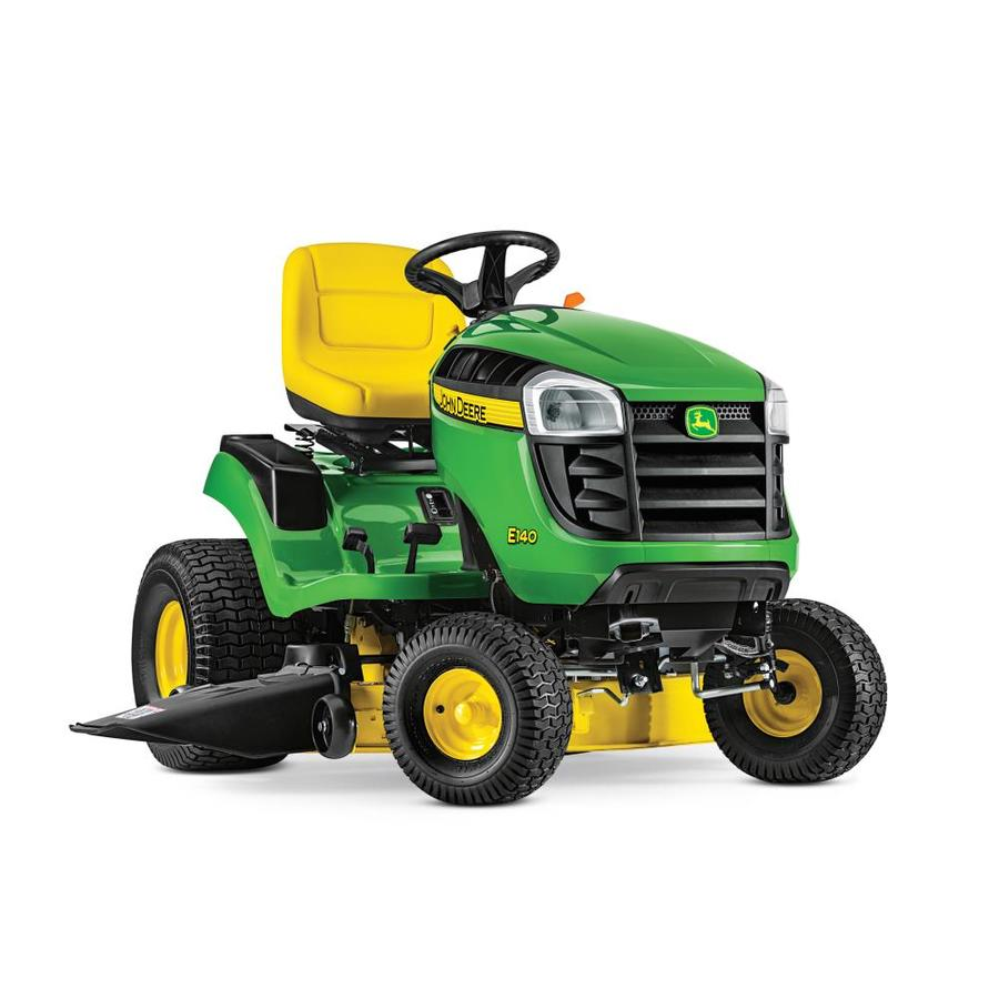 John Deere 100 Series >> Shop John Deere E140 22-HP V-twin Side By Side Hydrostatic 48-in Riding Lawn Mower with Mulching ...