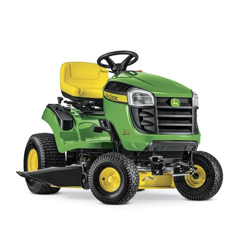 E100 17.5-HP Automatic 42-in Riding Lawn Mower with Mulching Capability on john deere 1010 tractor manuals, john deere 2020 front axle diagram, john deere 3010 parts diagram, john deere 310g parts diagram,