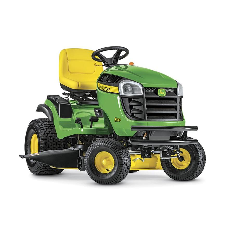 John Deere E130 22 Hp V Twin Side By Side Hydrostatic 42 In Riding Lawn Mower With Mulching Capability Kit Sold Separately In The Gas Riding Lawn Mowers Department At Lowes Com