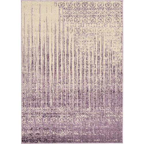 Unique Loom Jennifer Del Mar Purple Ivory Rectangular