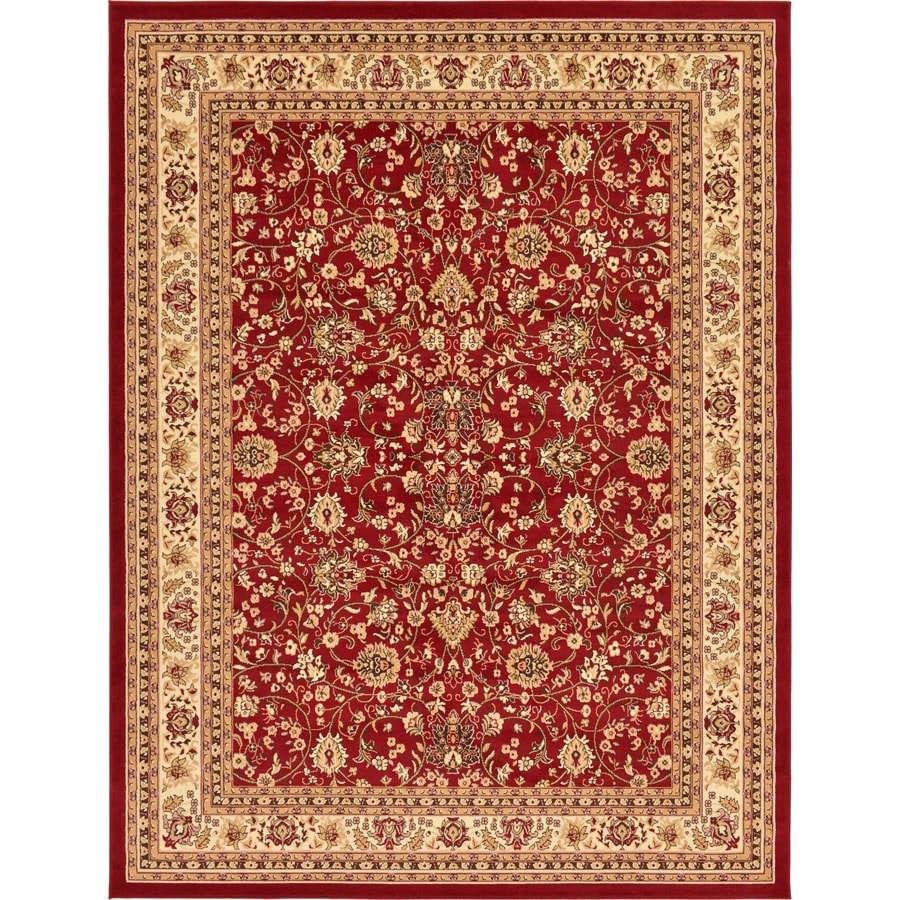 Unique Loom Washington Sialk Hill Burgundy Indoor Oriental