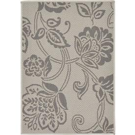Unique Loom Floral Outdoor Contemporary Floral Area Rug or Runner
